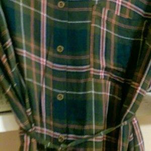 Flannel design tunic.